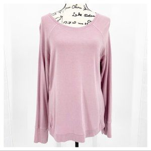 Active Life Dusty Rose Sweatshirt Pullover Size M